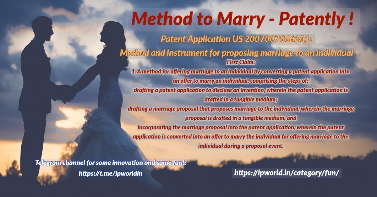 Method to Marry - Patent Application