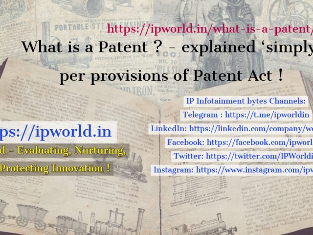 What is a patent ?- here a simple explanation !