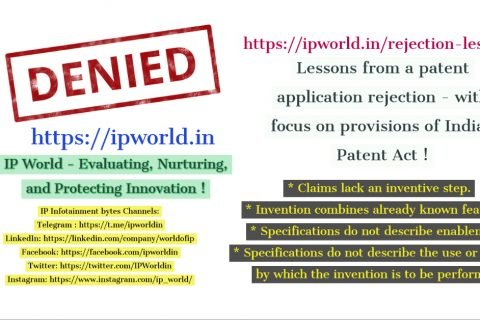 Lessons from a Patent Application Rejection